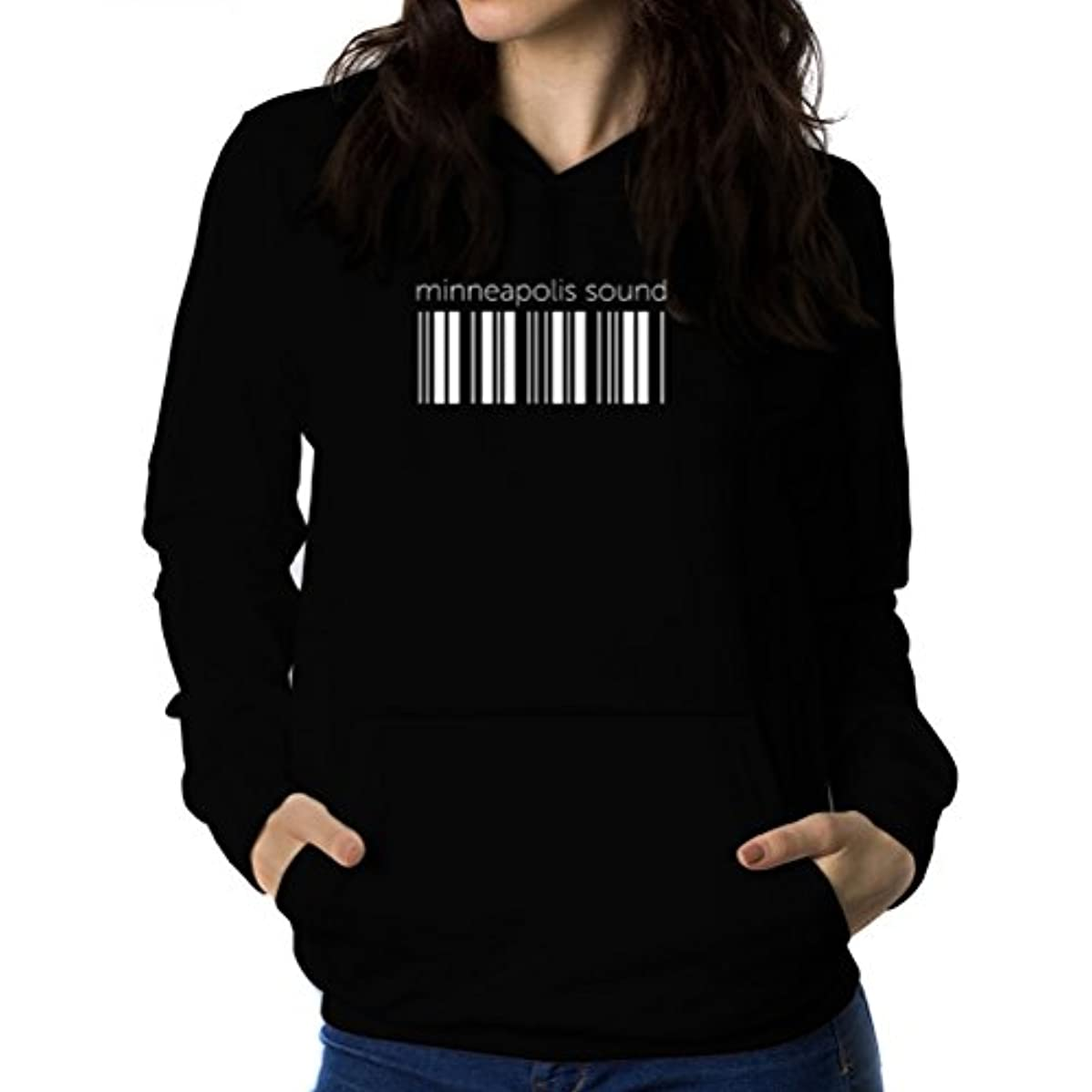 直接アナニバー応用Minneapolis Sound barcode 女性 フーディー