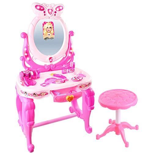 夢まぼろしの化粧台 子供のままごとミニ鏡台 可愛いシール付き...