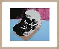 ポスター アンディ ウォーホル Skull 1976 額装品 ウッドベーシックフレーム(オフホワイト)
