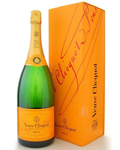 オリジナル箱入り 正規品 ヴーヴ・クリコNVイエロー・ラベル 1500ml・マグナム(泡・白) (ワイン(=750ml)4本と同梱可)
