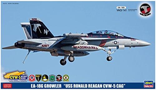 ハセガワ 1/72 EA-18G グラウラー USS ロナルド レーガンCVW-5 CAG プラモデル SP344