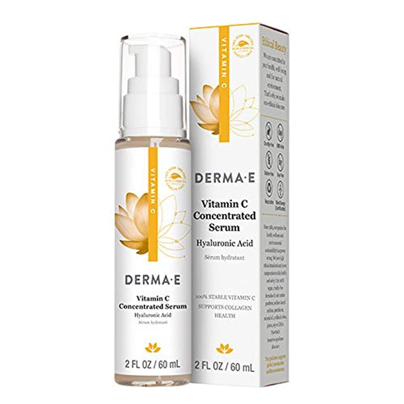 渇き挽くスケジュールDerma E Beauty - Vitamin C Serum - 2oz / 60ml