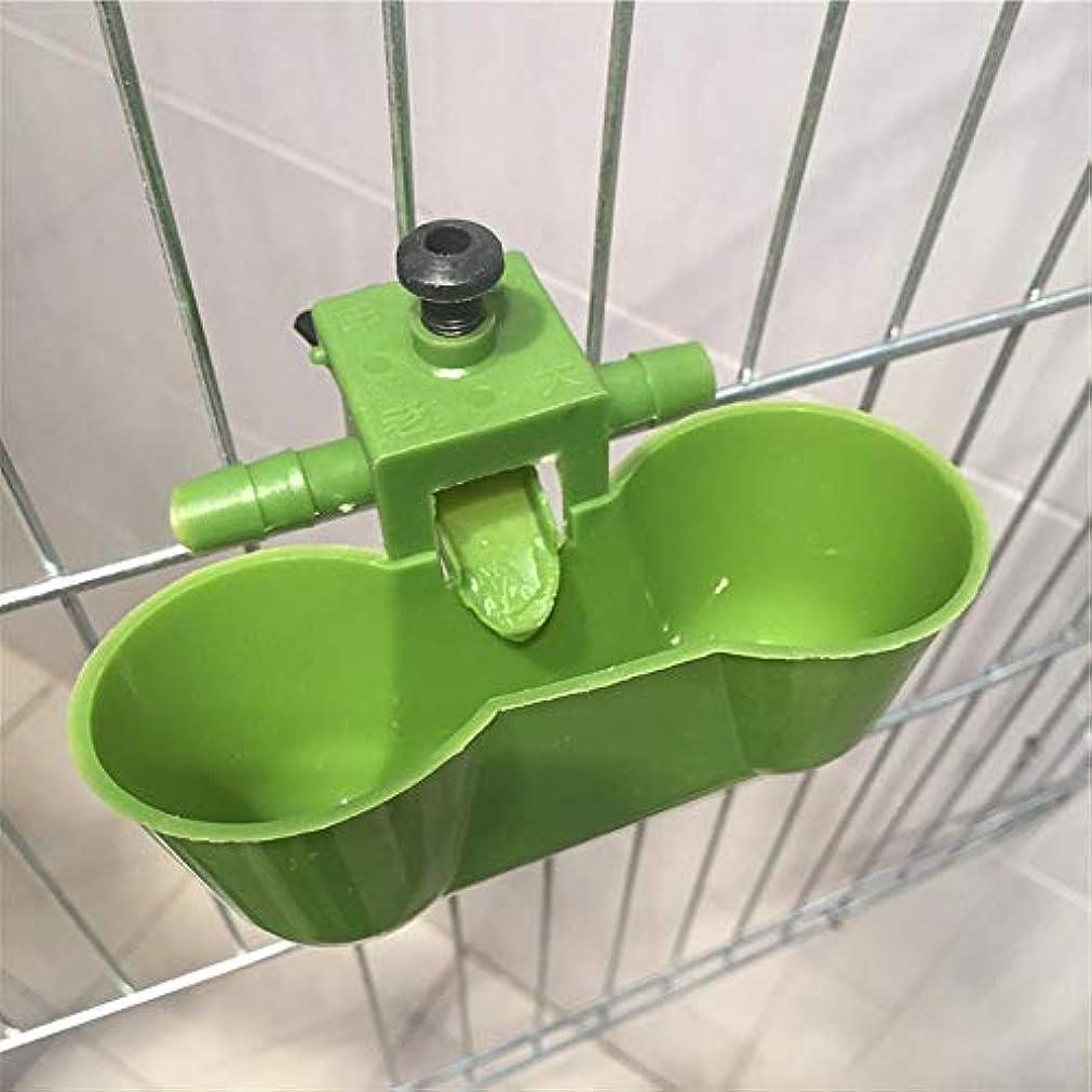 今日貝殻ボトル20個の緑の鳥給水器チキン飲料カップウズラの自動給水器パイプ径9.5?10ミリメートルチックダブルカップ