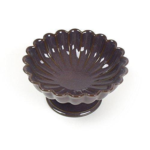 ヴィンテージ風クラシカルなフォルム陶器 ヴェルナーレ コンポート パープル
