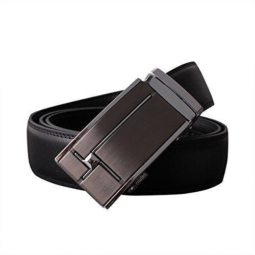 おずこ(OZUKO)ベルト サイズ調整可能 メンズ 革 ブランド レザー ビジネス プレゼント 紳士 就職 進学祝い (ブラック)