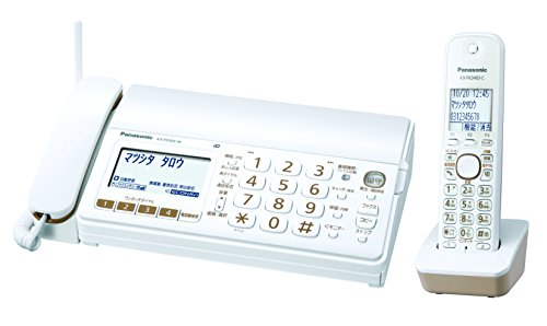 パナソニック おたっくす デジタルコードレスFAX 子機1台付き 1.9GHz DECT準拠方式 ホワイト KX-PD303DL-W