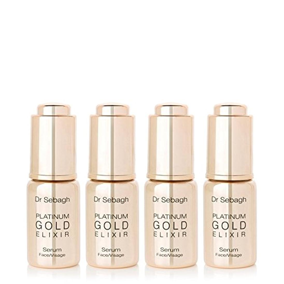 委員長企業野望Dr Sebagh Platinum Gold Elixir 4 x 10ml - プラチナ金エリクシル4×10ミリリットル [並行輸入品]