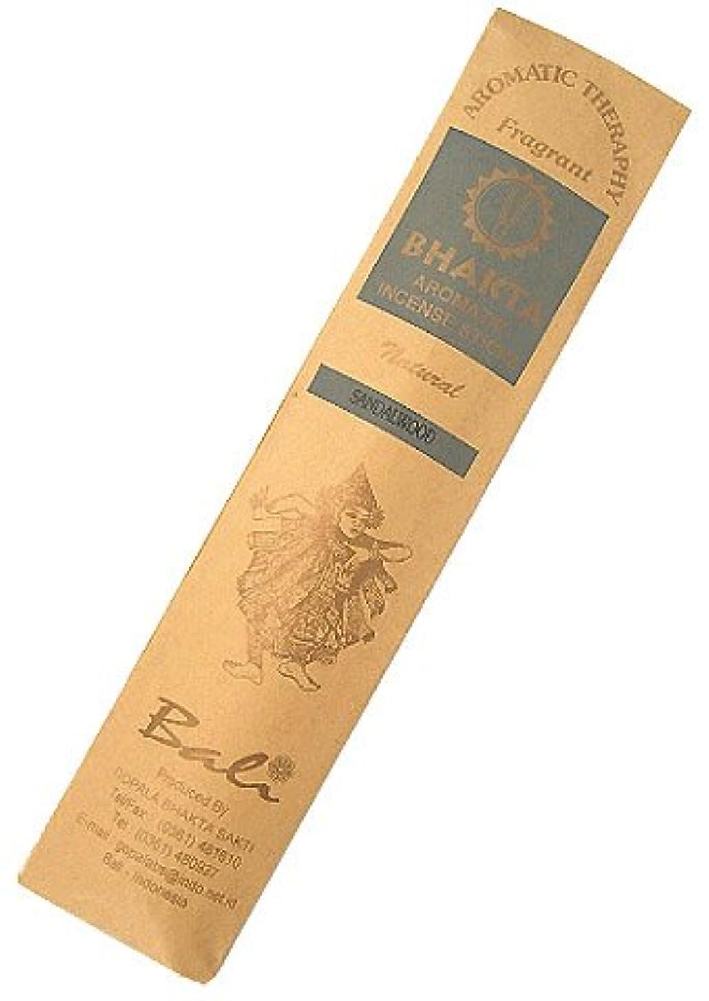 直立トークアプローチお香 BHAKTA ナチュラル スティック 香(サンダルウッド)ロングタイプ インセンス[アロマセラピー 癒し リラックス 雰囲気作り]インドネシア?バリ島のお香