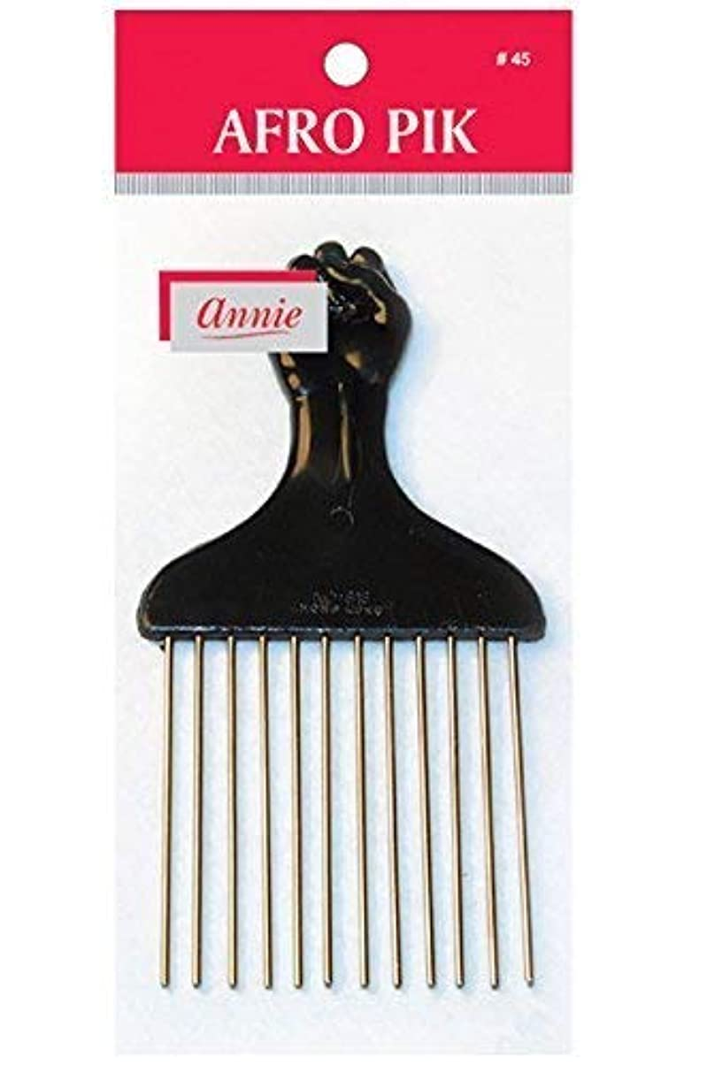 横に製作緑annie hair pik FIST Styling Pik metal afro Pik Hair Comb [並行輸入品]