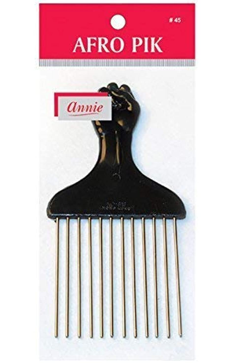 あえぎ北米引き潮annie hair pik FIST Styling Pik metal afro Pik Hair Comb [並行輸入品]