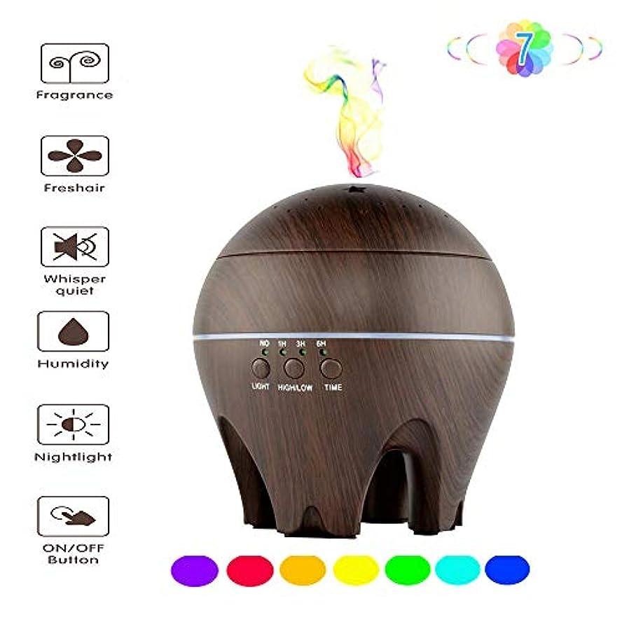 人質悩み黒500mlアロマエッセンシャルオイルディフューザー - 超音波加湿器 - コールドフォグモード - 魅力的な7色LEDナイトライト - オートオフ - タイマー設定