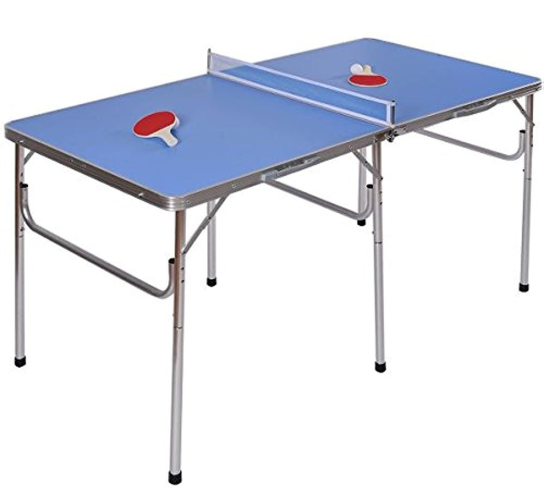 K & A会社テーブルポータブルTennis Ping Pong Folding with Accessoriesインドアゲーム新しい60