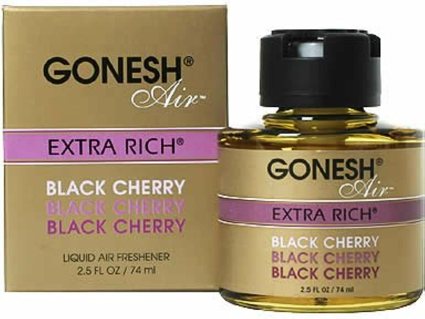 ティーム許す収まるガーネッシュ(GONESH) リキッドエアフレッシュナー ブラックチェリー 74ml