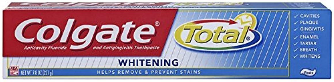 黄ばむ利用可能簡単なColgate 総フッ化物の歯磨き粉、7.80オズ(2パック)ホワイトニング 2パック