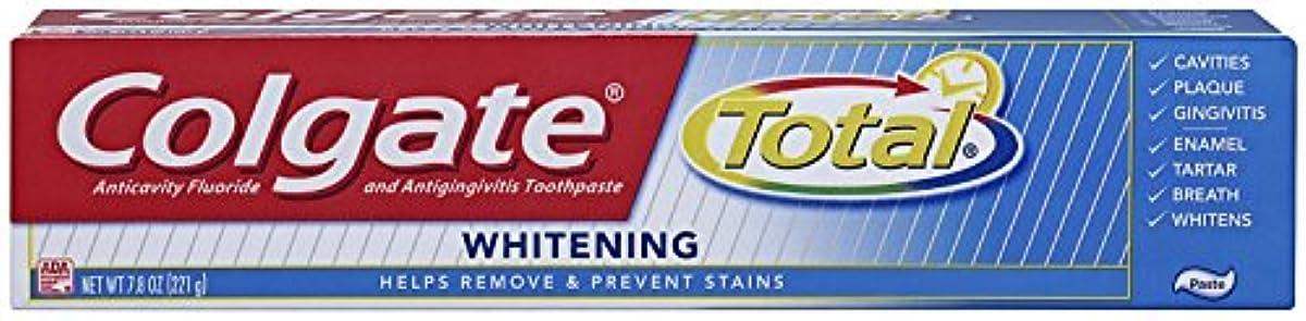 抜け目がない年齢クルーColgate 総フッ化物の歯磨き粉、7.80オズ(2パック)ホワイトニング 2パック