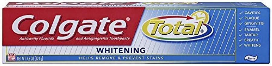 Colgate 総フッ化物の歯磨き粉、7.80オズ(2パック)ホワイトニング 2パック
