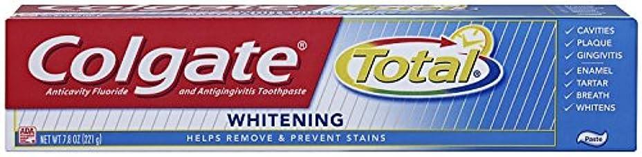 イタリアの高層ビルひそかにColgate 総フッ化物の歯磨き粉、7.80オズ(2パック)ホワイトニング 2パック