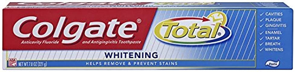 確率無効圧倒的Colgate 総フッ化物の歯磨き粉、7.80オズ(2パック)ホワイトニング 2パック