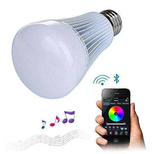 Crenova Bluetooth4.0搭載レインボー スマート LED電球 8W (40W相当) E27 調光調色 APPコントロール機能
