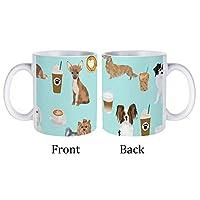 犬のコーヒーミント1マグカップセラミックカップコーヒーカップ耐熱性耐久性シンプルカップオフィス寮家庭用飲料カップ