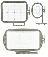 3-Piece Embroidery Hoop Set for Brother Embroidery Machines - SE400 PE500 LB6800 ---- SE270D SE350 SE400 PE-300S PE-400D PE500 HE-120 HE-240 LB-6770 LB-6800PRW 500D 900D 950D SB7050E by CleverDelights