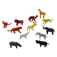 MARUIKAO 動物モデルおもちゃ フィギュアおもちゃ シミュレーション動物モデル 家庭装飾 小物グッズ 教育用品 12個セット 野生動物