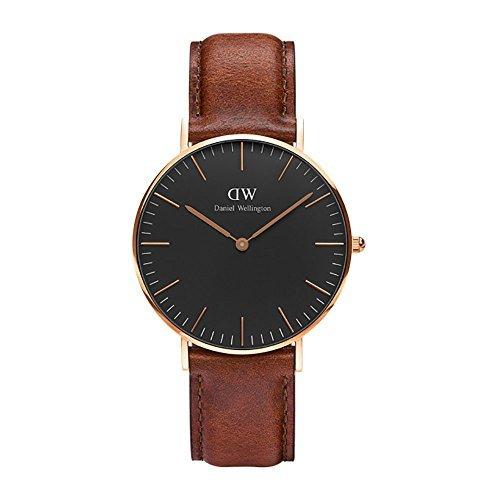 CLASSIC BLACK新品Daniel Wellington ダニエル ウェリントンST MAWES レディース腕時計 クラッシー 本革  腕時計 ピンクゴールド 36mm [並行輸入品]