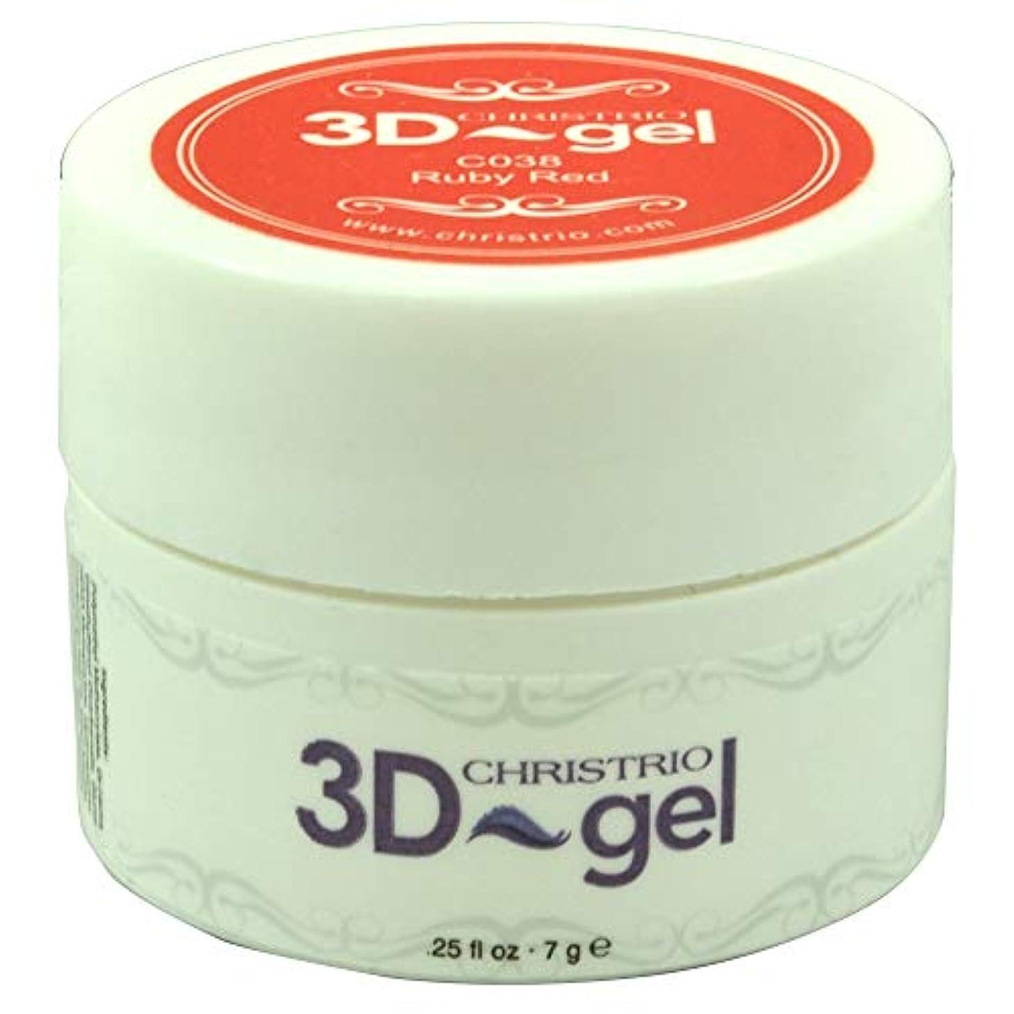 アトム軽蔑調停するCHRISTRIO 3Dジェル 7g C038 ルビーレッド