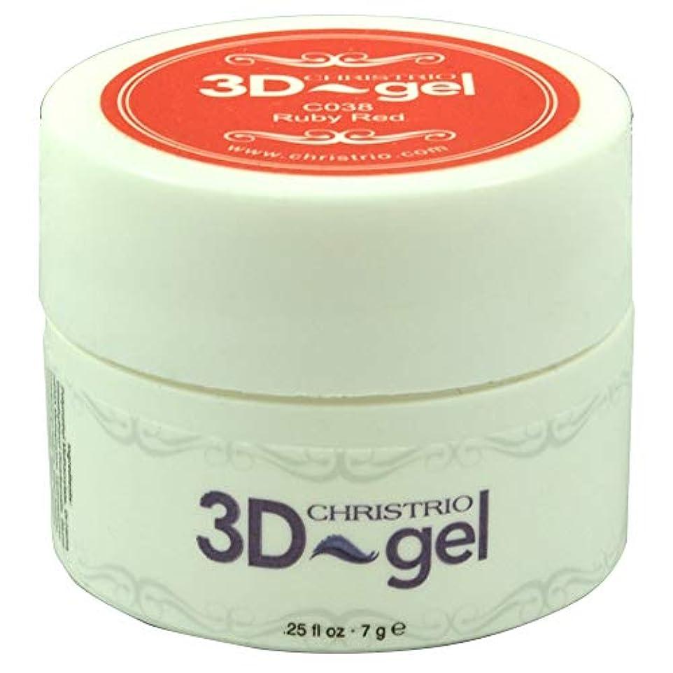 調べる配当バンジョーCHRISTRIO 3Dジェル 7g C038 ルビーレッド