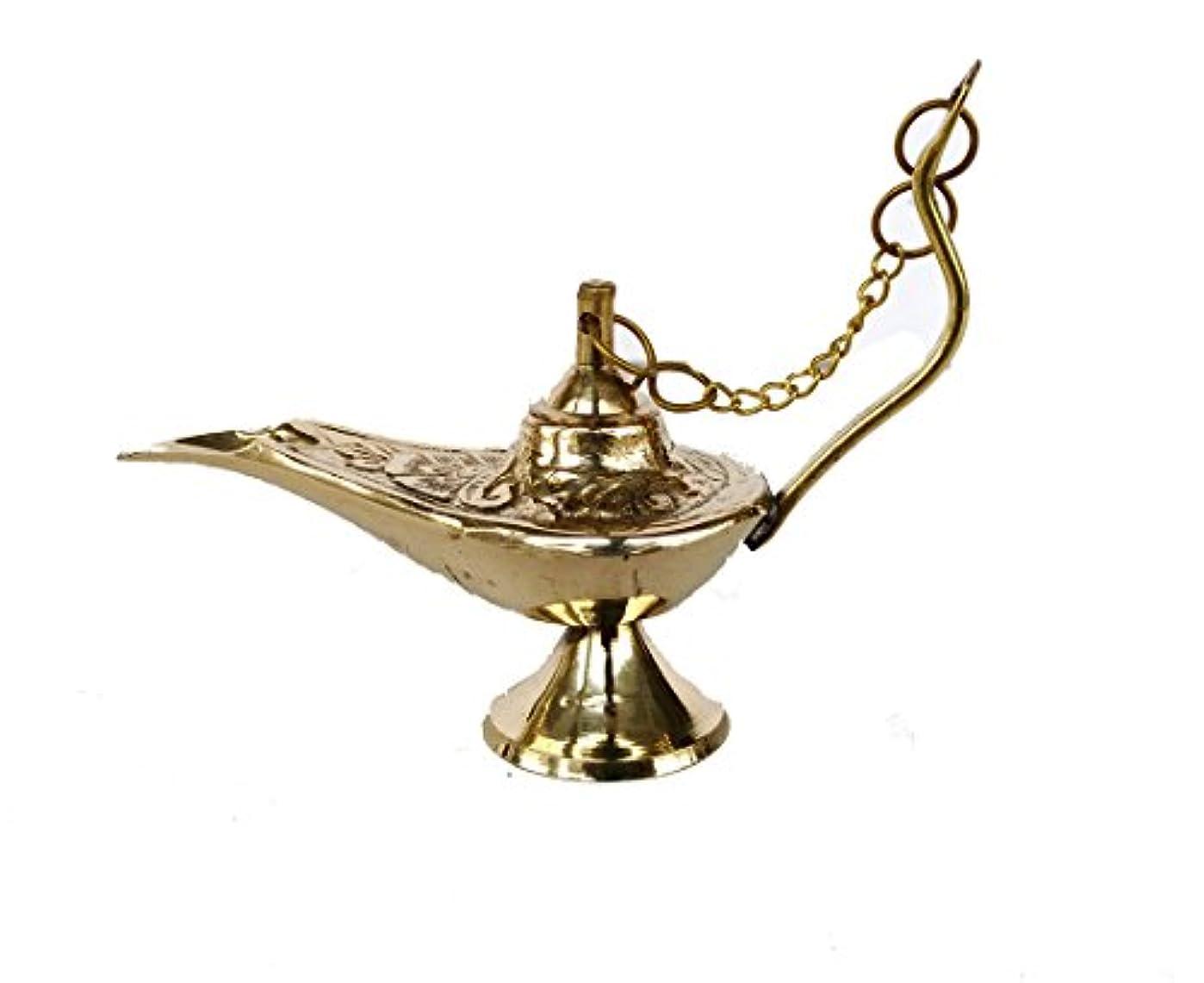 滅多頼むデマンドRastogi Handicrafts真鍮Aladdin Genie Lamps Incense Burners Big and Smallサイズゴールデンカラーランプ 4 x 3 inch zfzfs