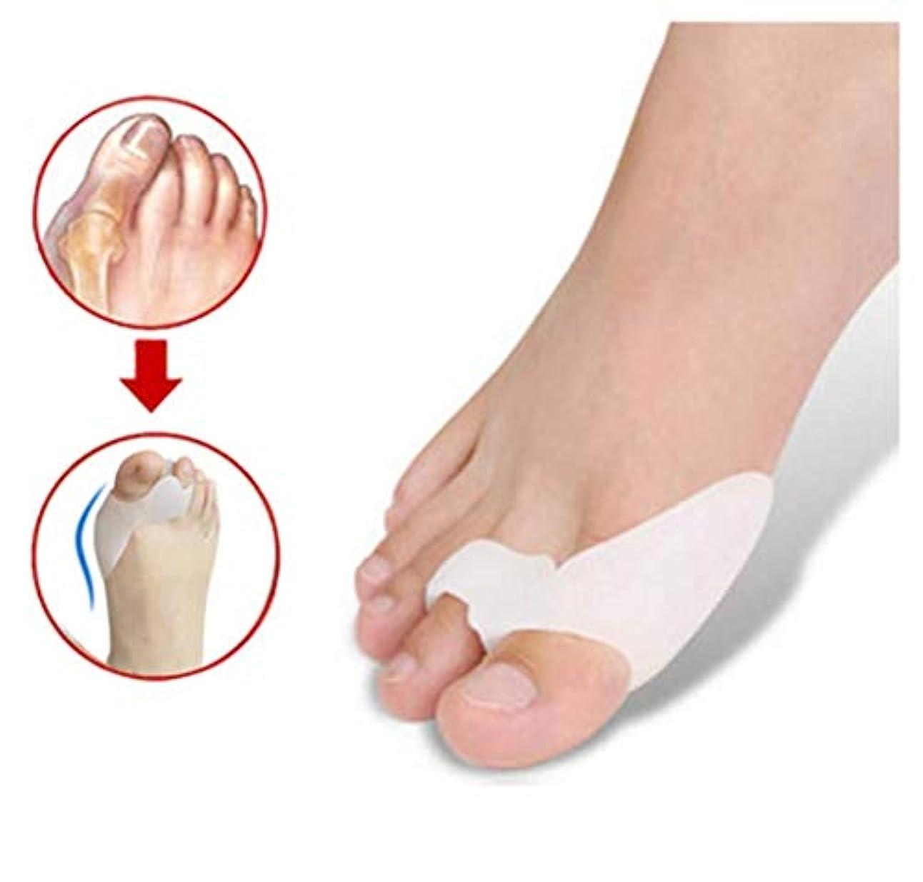 黒シルク生き残り外反母趾矯正、足のケアのつま先のコーディネーター、重複するつま先のセパレーター1ダブルデイリーフットケアツール