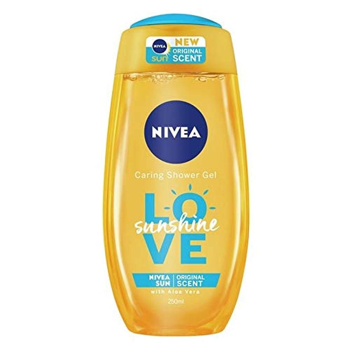 木製ご覧ください排除[Nivea ] ニベアの日差しは、思いやりのシャワージェル250ミリリットルを愛します - Nivea Sunshine Love Caring Shower Gel 250ml [並行輸入品]