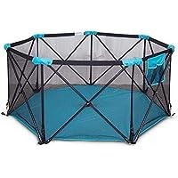 乳幼児のためのベビープレイラードキャ??リングケースフェンスと折りたたみ可能な軽量メッシュのベビープレイペン (色 : 青)