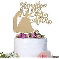 (ハッピーココ) happykoko ケーキトッパー ウエディング ディズニー シンデレラ アクリル ケーキピック プリンセス (ミラーゴールド)