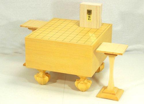 [해외]장기 세트 5 치 다리가있는 에코 장기판 세트 장기 말 (단풍 나무 옻칠 쓰기) 말 대 (한쪽 다리)/Shogi set 5 shoes with eco shogi board set Shogi piece (written in lizard lacquer) Komaba (one leg)