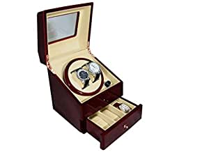 ワインダー  【ワイン】ka073 「マブチモーター」使用 信頼の ワインディングマシーン 腕時計収納ケースも搭載の 豪華時計ケース ワインディングマシン
