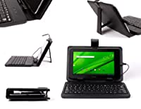 DURAGADGETブラックレザーLook保護ケースMicro USBキーボード&内蔵スタンド機能付きOdys Neo X 7 ( 7 Zoll )タブレットPC、Odys x7 Plus、Odys Next、Odys Neo s8 Plus & ODYS LooxタッチパネルPlus ( TFT、1.2 GHz Cortex A 8、512 RAM、4 GB HDD、WLAN、SD、Android OS 4.0.x )