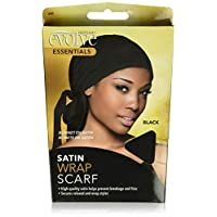Evolve Satin Wrap Scarf, Black