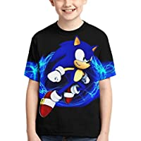 Xuedong Sonic The Hedgehog T Shirt Kids Youth Fashion 3D Print Short Sleeve for Boys and Girls