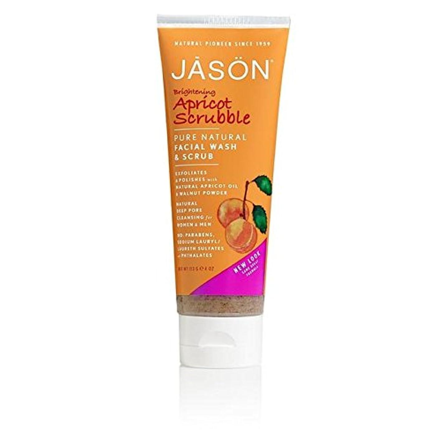スプリット印象派原油Jason Apricot Facial Wash & Scrub 128ml - ジェイソン?アプリコット洗顔&スクラブ128ミリリットル [並行輸入品]