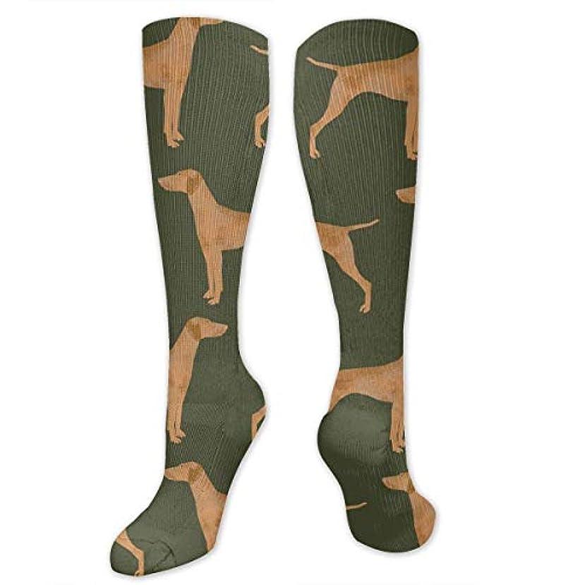 遅い馬力無傷QRRIY圧縮靴下3 D緑のVizsla犬抗菌アスレチック靴下男性の女性のための最高の医療旅行の女性看護師の浮浪者浮腫