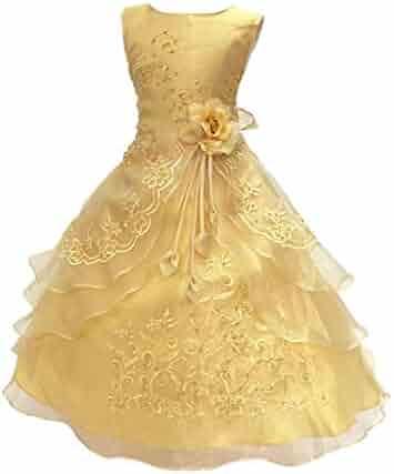 68df5def8 LPATTERN (Rapaten) Kids Dress Girls Fashion Western One Piece Piano Concert  Recital Wedding 100
