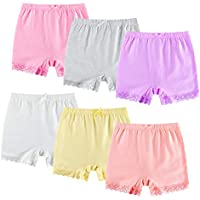 ZukoCert 6 Pack Colorful Dance Shorts Girls Bike Short for Breathable Dance Underdress 3-10T