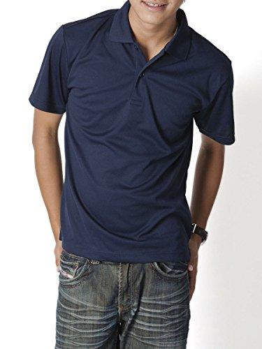 ティーシャツドットエスティー ポロシャツ ドライ 半袖 無地 UVカット 4.4oz メンズ ネイビー 3L