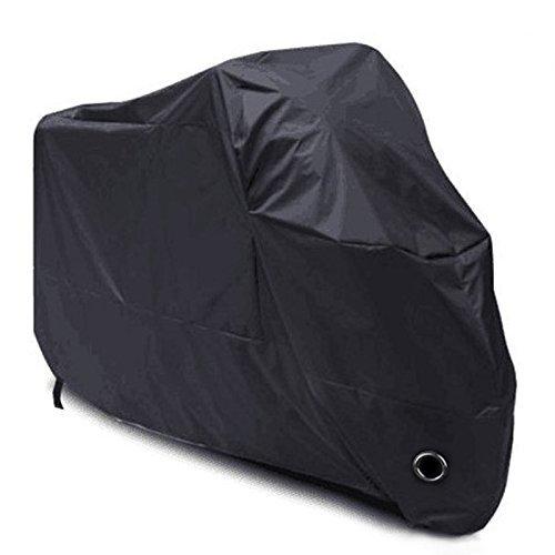Eplze バイクカバー 溶けない バイク車体カバー 高品質420D オックス 厚手 防水 防雪 耐熱 UVカット 盗難防止 風飛び防止 耐久性アップ バイクを守る 車体カバー ハーレー 自転車カバー 3Lサイズ 収納袋付き (ブラック, XXXL: 265 * 105 * 125、モトサイクルに適しています(長さ約230cm))