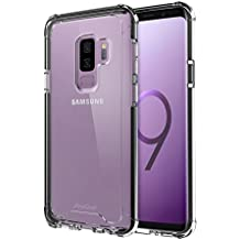 Samsung Galaxy S9 Plus Case, ProCase Slim Hybrid TPU Bumper Cushion Cover with Reinforced Corners, Transparent Scratch Resistant Rugged Cover Protective Case for Samsung Galaxy S9+ 2018 –Black Frame