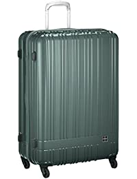 [ハンズプラス] スーツケース h+;ライトスーツケース ジップ;グリーン 90L   90L 76cm 4.2kg 2430000383281
