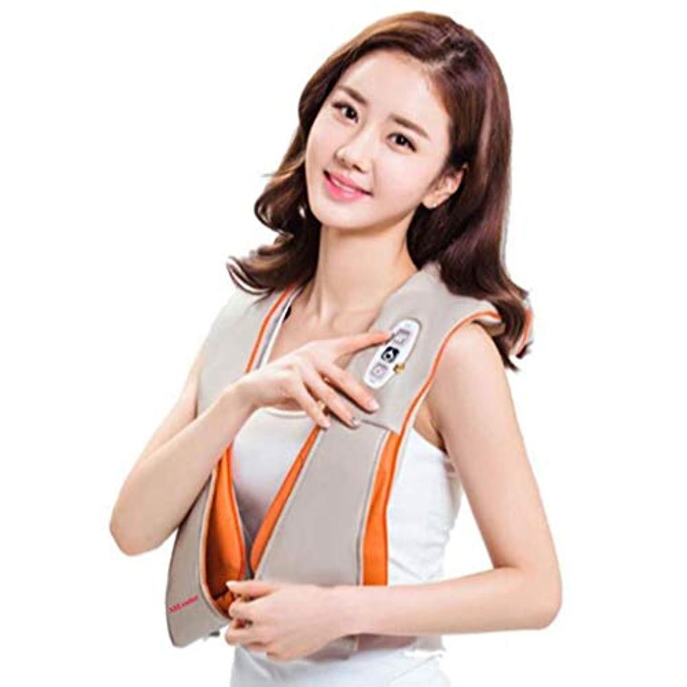 誓いアドバンテージ事実上首のマッサージャー、調節可能な強さのための熱および深いティッシュの混練のマッサージの指圧の肩のマッサージャー、事務車で使用することができます