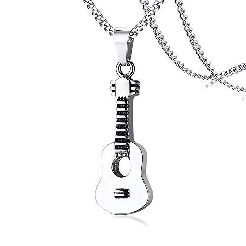 [ホーアムアイ]HooAMI ギター型 メモリアルペンダント ステンレス 遺骨ペンダント ネックレス 手元供養 15x42mm