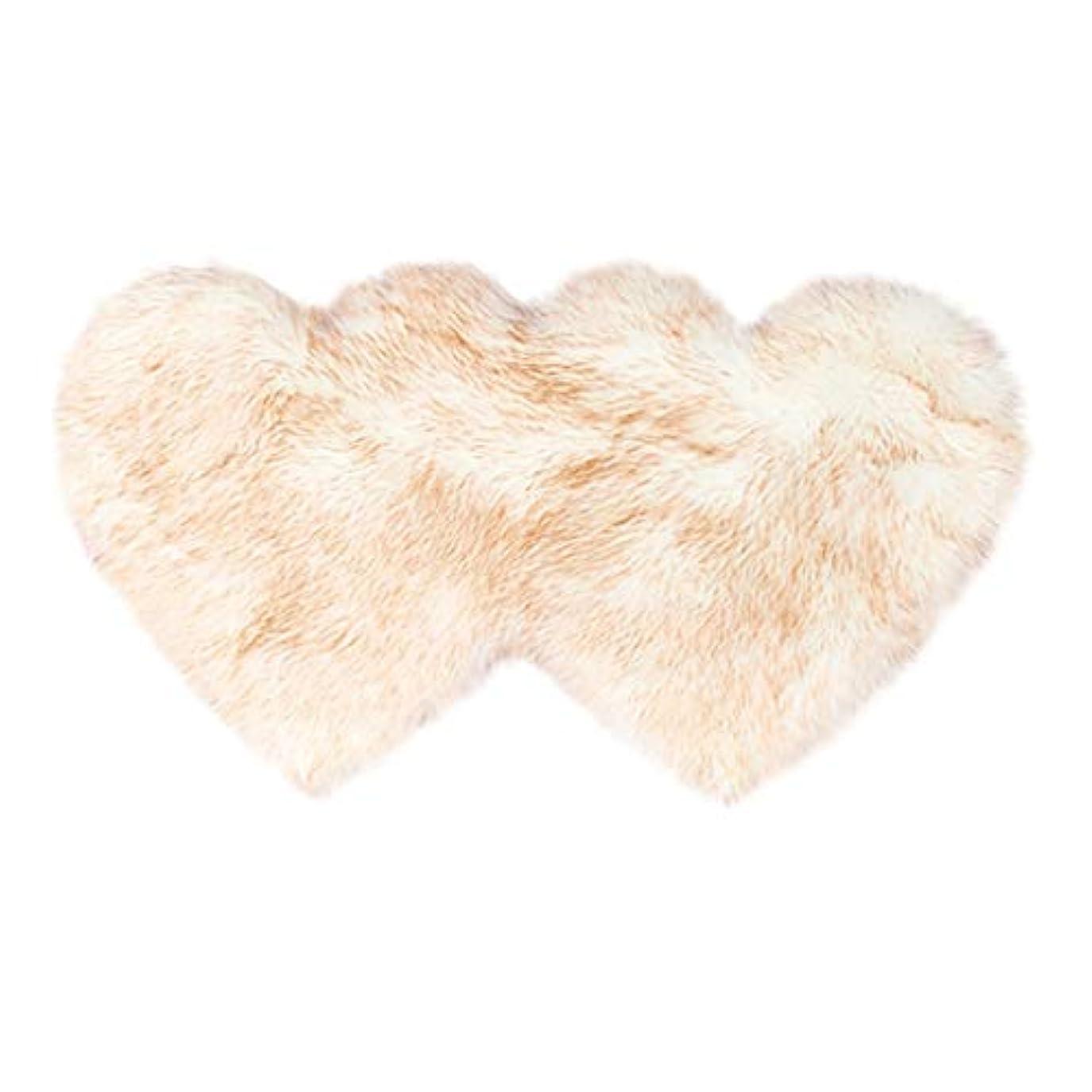 窓を洗うボット不快な愛の形の羊毛と羊の皮のじゅうたんと非滑り防止の寝室の毛茸のじゅうたんのマット